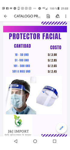 careta facial