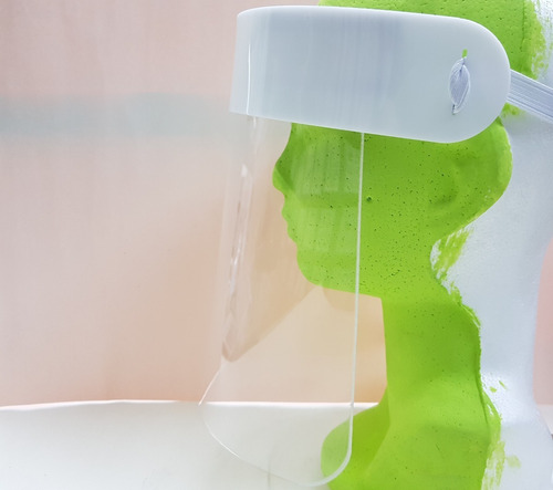 careta facial protección cara boca ojos lavable transparente