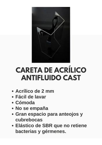 careta facial protectora de acrílico 2mm paquete 2 unidades!