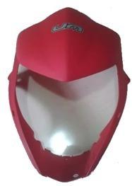 careta frontal fastwind um original negro y rojo