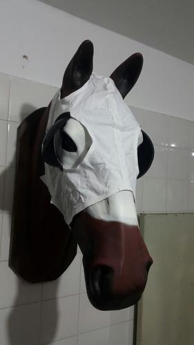 careta mascara pescuecera con goma caballo carrera turf