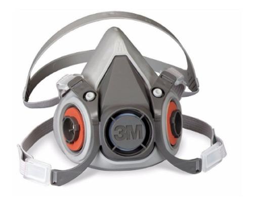 careta mascara respirador ref 6200 + 2 filtros 6003 3m