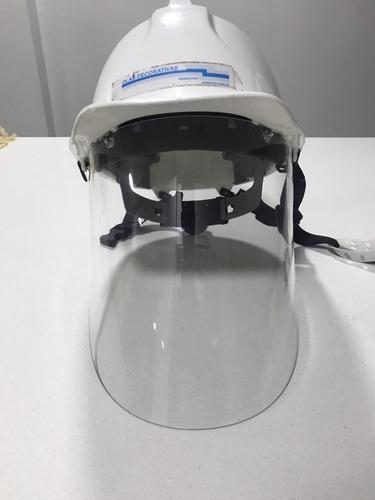 careta para construcción adaptable a cualquier casco rígido