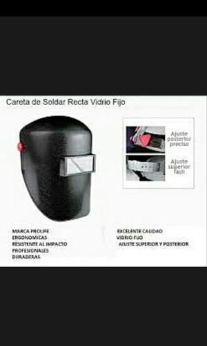 careta para soldar lente fijo marca pro-life mod. 501 oferta