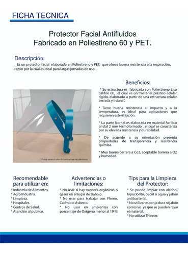 careta protector facial
