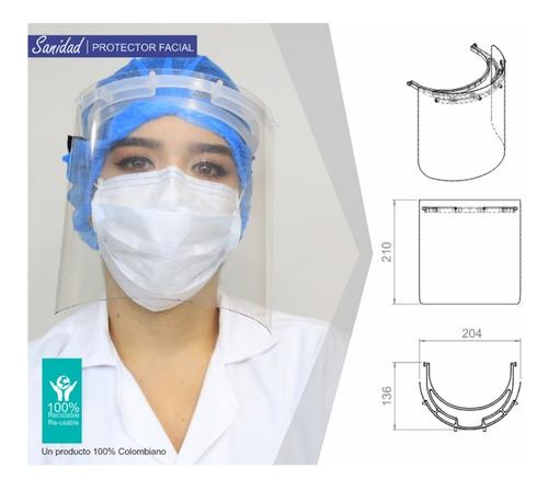 careta protector facial bioseguridad