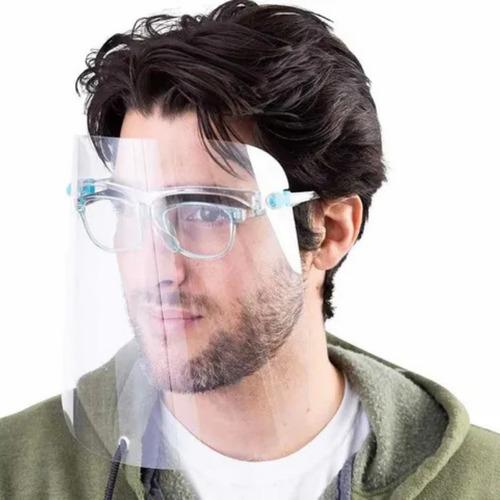 careta protectora facial lentes de protección cubrebocas 6pz