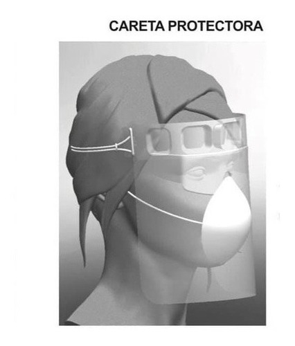 careta protectora reusable básica pet