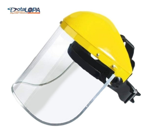 careta protectora visor transparente