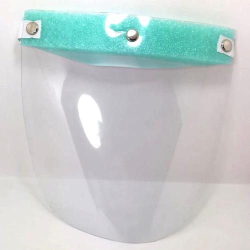 careta pvc con cubrebocas mayoreo 50 pzs reusable lavable