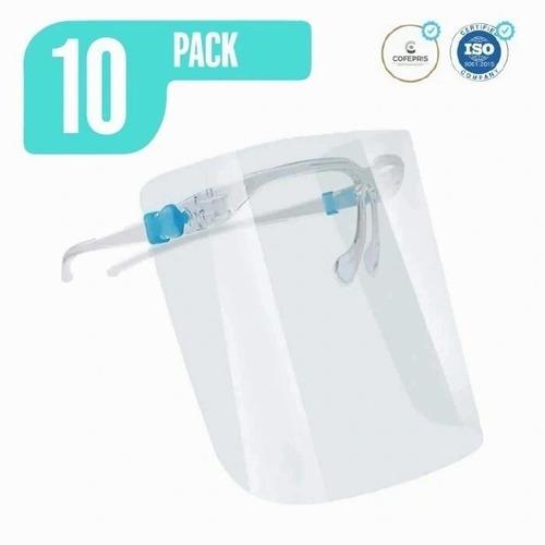 careta reutilizable con lentes armazon 10 unidades