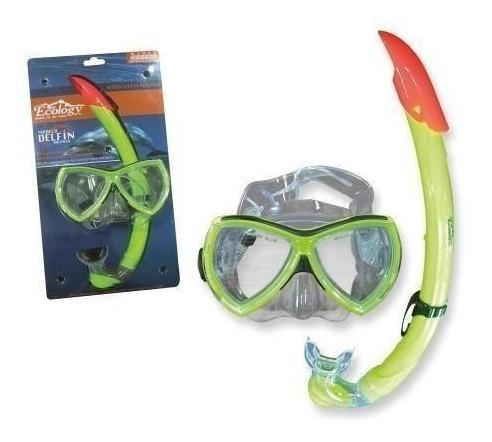 careta snorkel buceo vidrio templado delfín ecology