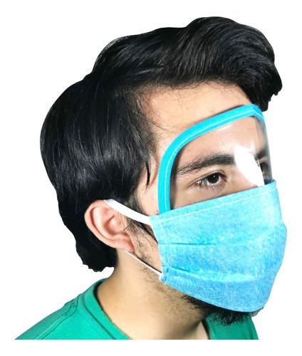 careta tapaboca mayoreo 50 psz reusable lavable visor colore