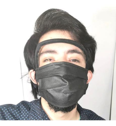 careta tapaboca reusable visor facial cubre ojos nariz boca