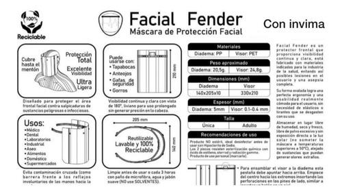 careta tapabocas mascara bioseguridad antifluidos con invima