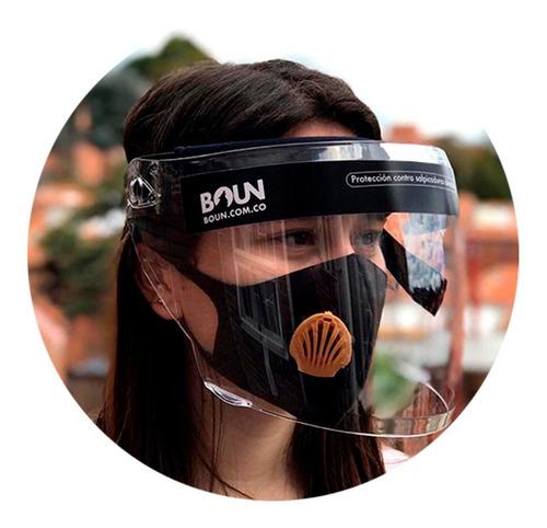 careta tapabocas mascara facial bioseguridad abatible boun