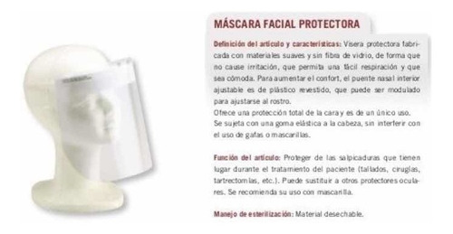 careta visor protección facial para odontológica by suelacol