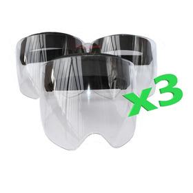 Careta Visor Protector Facial Policarbonato Bioseguridad X3