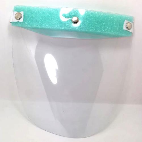 careta y cubrebocas para protección total pvc reutilizable