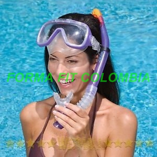 careta y snorkel para natacion rider swin intex