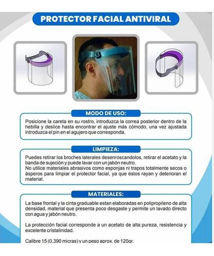 caretas faciales antivirales