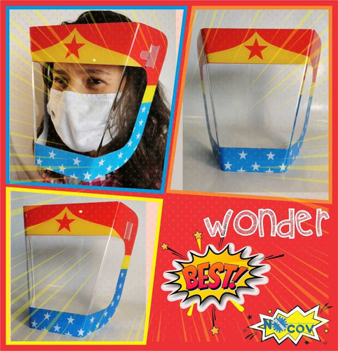 caretas proteccion faciales para niños 100% acrilico