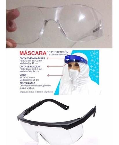 caretas y gafas de bioseguridad. gafas $15000 caretas$10000
