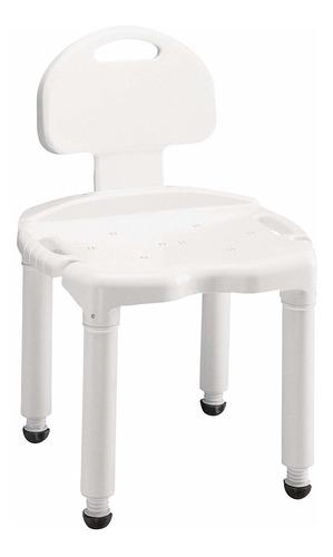 carex - asiento de baño y silla de ducha con respaldo par