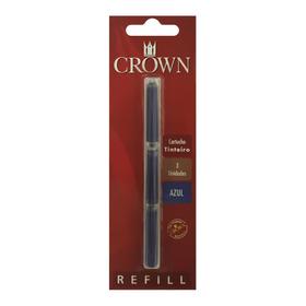 Carga Crown Tinteira Tradicional Ca32005a Azul - Refinado