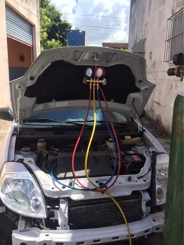 carga de aire acondicionado gas dupon ecológico