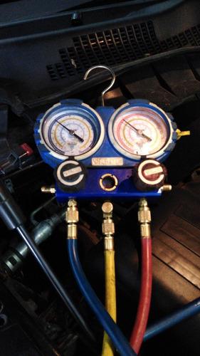 carga de gas aire acondicionado automotor