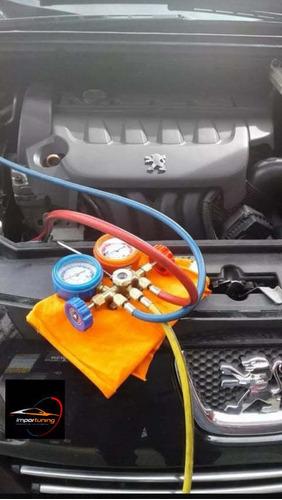 carga de gas aire acondicionado automotriz