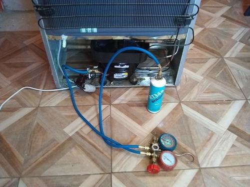 carga de gas heladeras, aire acondicionado repara lavarropas