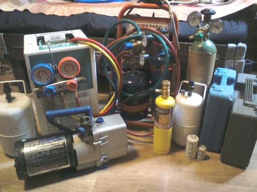 carga de gas r22. aire acondicionado split.