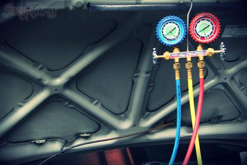 carga gas r134 diagnostico aire acondicionado auto zona sur
