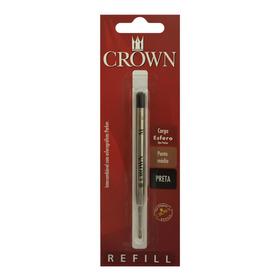 Carga Refil Crown Caneta Esfero Trad Ca14007p Pret- Refinado