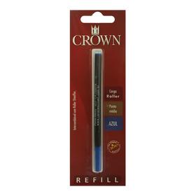 Carga Refil Crown Caneta Roller Ca22007a Azul - Refinado
