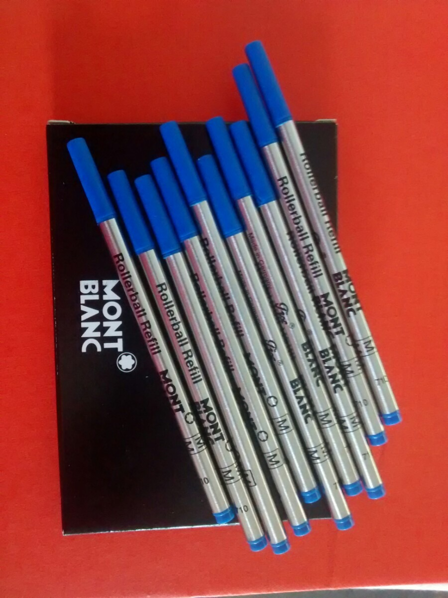 095d201040d Carga Refil Rollerball Azul Montblanc Made Germany - R  22