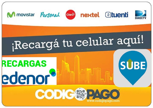 carga virtual,sube y cobros de facturas
