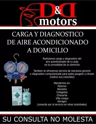 carga y diagnostico aire acondicionado automotriz