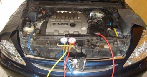 carga y diagnostico de aire acondicionado