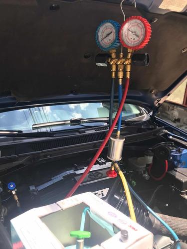 carga y tapa fuga aire acondicionado