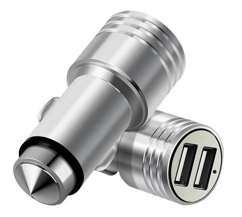 cargador 12v para auto doble usb carga rápida hammer + cable