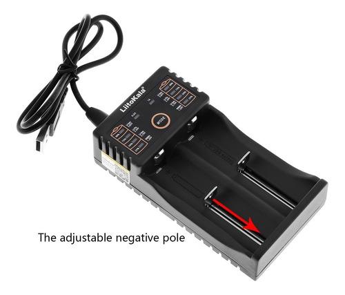 cargador 18650 doble pilas aa aaa baterias 26650 10440 14500