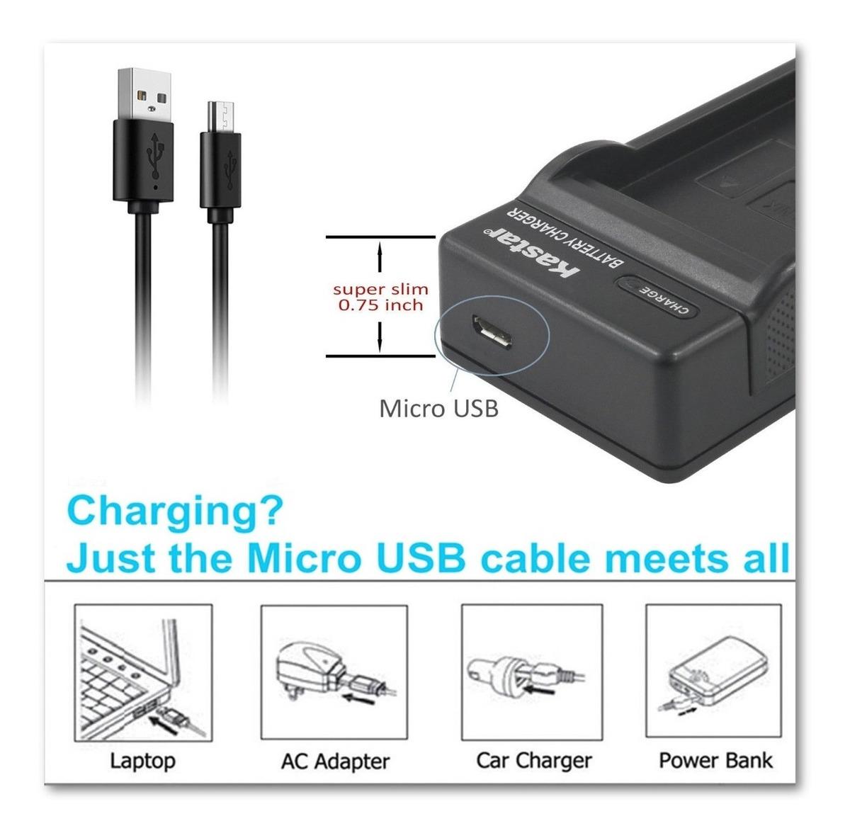 MICRO-USB BATERIA CARGADOR para NIKON CoolPix EN-EL5
