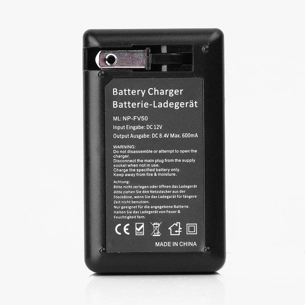 Cargador para SONY Handycam NP-FV50 NP-FV30 NP-FV70 NP-FV100 DCR-DVD105 2 Batería