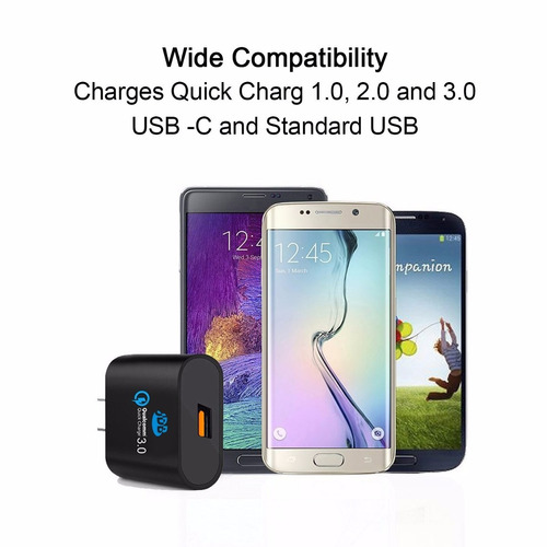 cargador 2.5a qualcomm 3.0 quickcharger jdb 85% extra ràpido