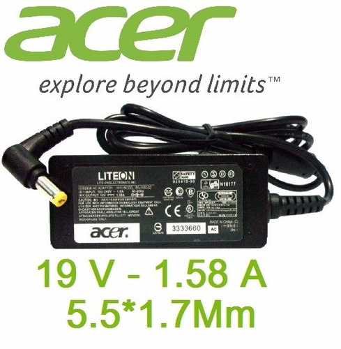 cargador adaptador laptop aspire mini acer one 19v 1.58a