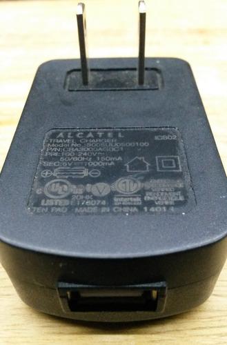 cargador alcatel original módelo: s005uu0500100