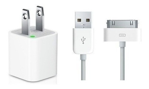 cargador apple iphone 4 4s taco + cable tienda